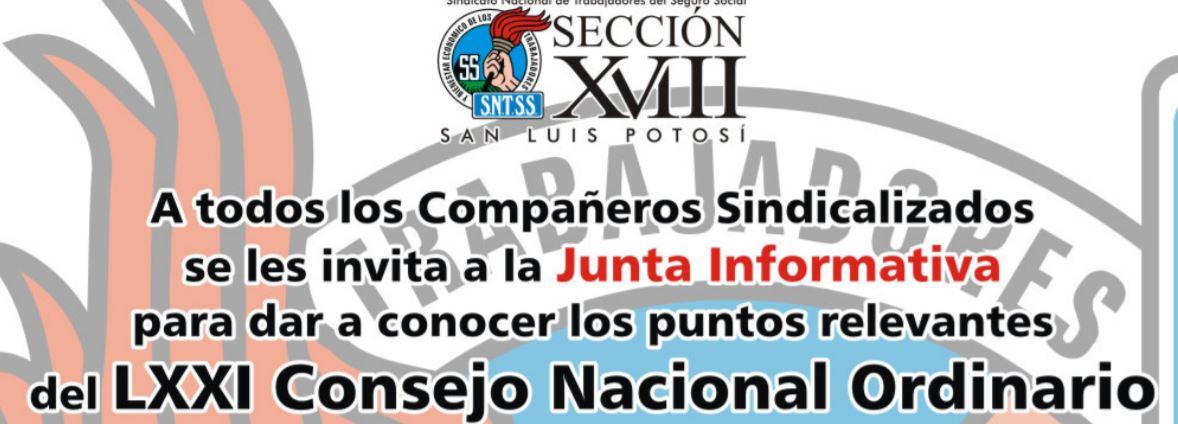 Aviso: Junta Informativa
