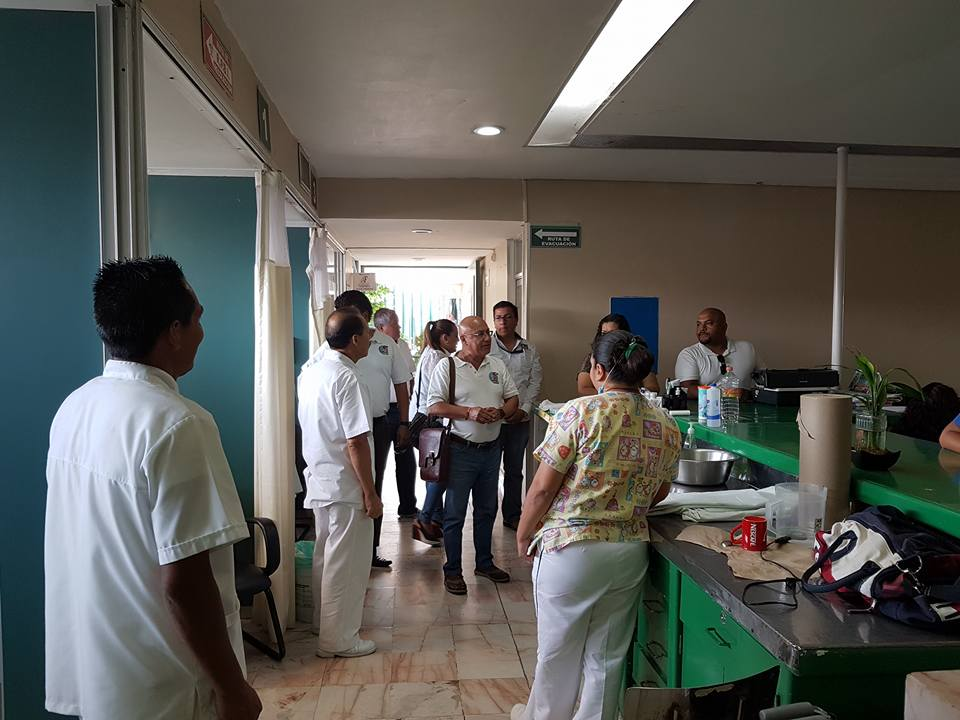 Recorrido por diferentes unidades médicas del estado