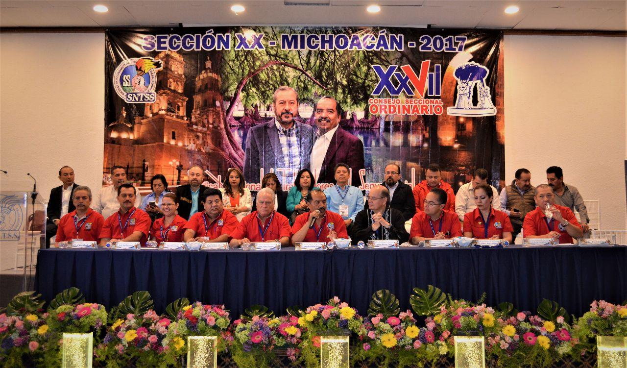 Respaldan trabajo gremial de la Sección XX Michoacán