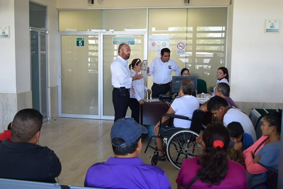 Visita de trabajo en la UMF No.27, San José del Valle